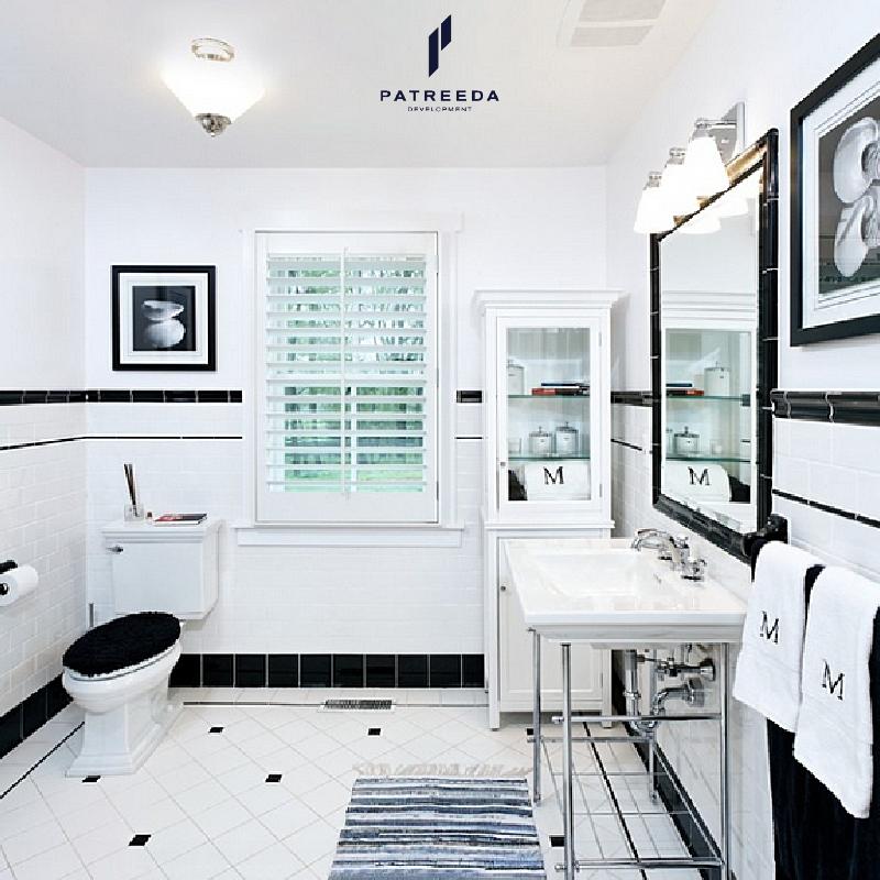ไอเดียเพิ่มความเก๋ให้ห้องน้ำด้วยกระเบื้องสีขาว